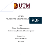 School Based Management Contemporary Trend in Education System