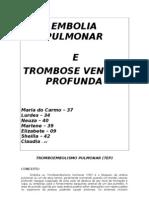 Trabalho de Tromboembolismo Pulmonar
