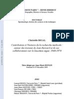 Rigal C. Contribution à l'histoire de la recherche médicale