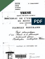 Bertrand I. Etude pharmacologique d'une rutacée de la pharmacopée