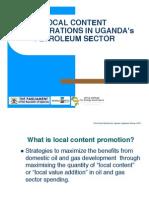 Local Content Considerations in Uganda's Petroleum Sector