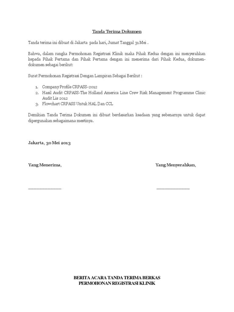 Contoh surat tanda terima dokumen thecheapjerseys Gallery