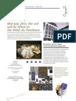 Hôtel du Panthéon - press release - June 2013 - complete renovation of the hotel