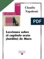 Lecciones Sobre El Capitulo Sexto Inedito de Marx
