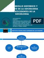 Antecedentes de Sociologia