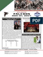 2009 Atlanta Falcons Draft Release