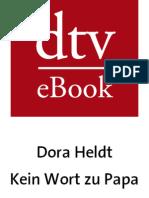 Dora Heldt Kein Wort Zu Papa Auszug