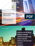 A Guide to Structural Waterproofing Substructures