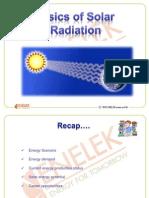 Basics of Solar Radiaiton