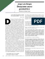 Conversación, Desayuno more geometrico, Borges