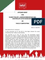 Elmar Thaler (SSB) Offener Brief an Paolo Campostrini