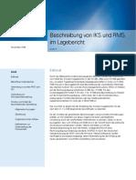 Beschreibung Von IKS Und RMS Im Lagebericht