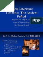 World Literature Timeline