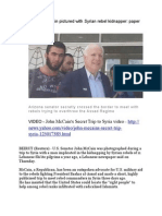 U.S. Senator McCain Pictured With Syrian Rebel Kidnapper - Paper