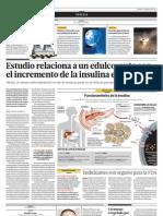 Estudio Relaciona a Un Edulcorante Con El Incremento de Insulina en La Sangre