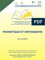 Franceza I - Fonetica Si Ortografie