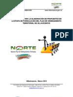 Instructivo Para La Elaboracion de Propuestas POT