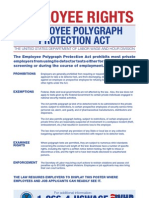 Employee Polygraph Protection Act - Federal Poster