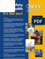 Occupational Safety and Health Act (OSHA) - Federal Poster