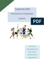Programa de Salud Para El Deportista Amateur