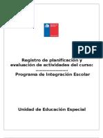 Registro de Planificacion Pie 2013