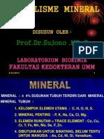Metabolisme Mineral Prof.dr.Sujono ,Mkes