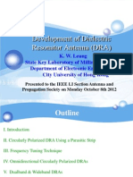 Development of Dielectric Resonator Antenna