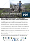The Future for Reindeer Husbandry and Conservation in Mongolia's Biodiversity Hotspot