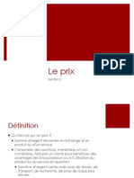 Marketing Mix Le PRIX