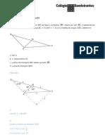Exercícios de triangulos