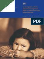 La Investigacion Sobre Las Transiciones en La Primera Infancia Analisis de Nociones Teorias y Practicas[1]