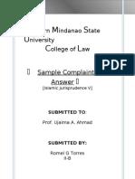 Complaint Islam Jur