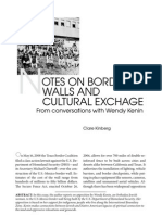 Notes on Border Walls and Cultural Exchange