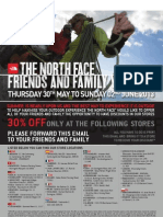 North Face 30% friends and family discount