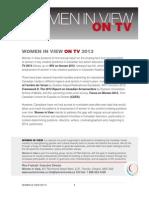 Women in View On TV