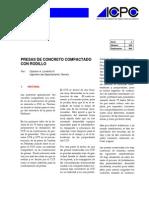 Presas de Concreto Compactado Con Rodillo