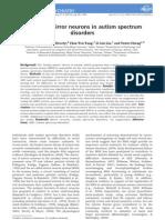 Unbroken Mirror Neurons in Autism Spectrum