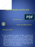 Law on Media and the Arts - Other RPC Provisions