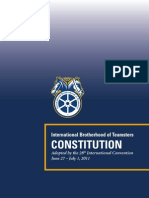 Teamsters International Constitution - 2011