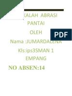 MAKALAH  ABRASI PANTAI.docx