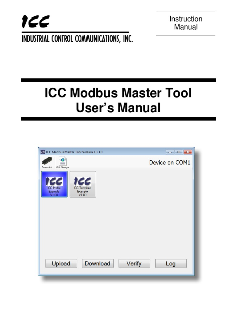 ICC Modbus Master Tool User's Manual | Xml | Icon (Computing)