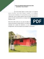 Primera Planta de Energias Renovables Del Peru