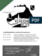 Klausner Bote 2007 11