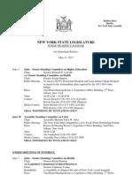 Public Hearing Calendar - May 31, 2013