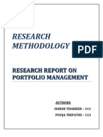 Portfolio management  - Research