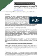 La selección de materiales de construcción con criterios de sustentabilidad