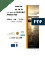 Memorias Foro Viabilidad económica de la conservación en el Amazonas