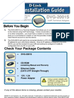DVG-2001S Quick Install Guide (English)