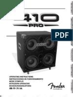 410 PRO ST LoudSpkr Enclosure Manual