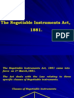 LAW - Negotiable Instruments Act